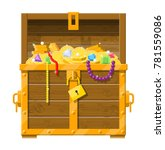 opened chest with padlock.... | Shutterstock .eps vector #781559086