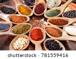 spices and herbs of different... | Shutterstock . vector #781559416