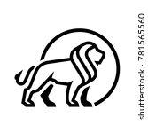 lion logo  symbol. | Shutterstock .eps vector #781565560
