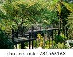skywalkway at garden | Shutterstock . vector #781566163