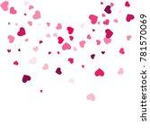 heart confetti beautifully... | Shutterstock .eps vector #781570069