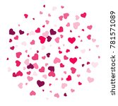 heart confetti beautifully... | Shutterstock .eps vector #781571089