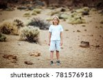 boy in a blue t shirt on nature ... | Shutterstock . vector #781576918