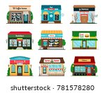 shop and cafe colorful icons...   Shutterstock . vector #781578280