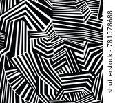 monochrome seamless geometric... | Shutterstock .eps vector #781578688