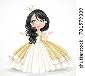 little brunette princess in... | Shutterstock .eps vector #781579339