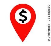 dollar sign money icon | Shutterstock .eps vector #781580890