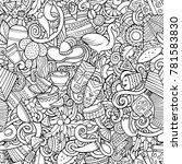 cartoon cute doodles latin... | Shutterstock .eps vector #781583830