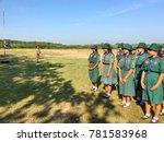 girl scouts in thailand school... | Shutterstock . vector #781583968