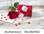 Open Valentines Gift Box Fille...