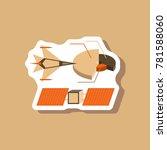 paper sticker on stylish... | Shutterstock .eps vector #781588060