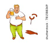 vector cartoon beer lover  ... | Shutterstock .eps vector #781588369