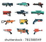 set of futuristic weapons | Shutterstock .eps vector #781588549