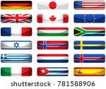 set of world flags. eps 10 file ... | Shutterstock .eps vector #781588906