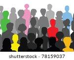 crowd | Shutterstock .eps vector #78159037