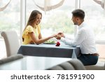 man making proposal of marriage ... | Shutterstock . vector #781591900