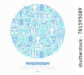 physiotherapy concept in circle ...   Shutterstock .eps vector #781595089