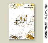 gold explosion paint splatter...   Shutterstock .eps vector #781599700