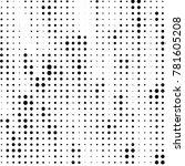 abstract grunge grid polka dot... | Shutterstock . vector #781605208
