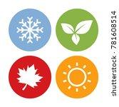Colorful Season Icons. Winter ...