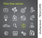 thin line vector business icon... | Shutterstock .eps vector #781611490