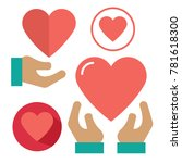 set of heart icon. love icon.... | Shutterstock .eps vector #781618300