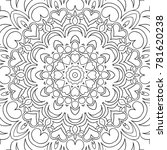 coloring page for adults. a... | Shutterstock .eps vector #781620238