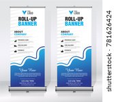 roll up banner design template  ... | Shutterstock .eps vector #781626424