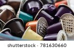 colorful used coffee capsules... | Shutterstock . vector #781630660