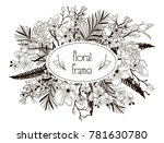 vector floral frame with... | Shutterstock .eps vector #781630780