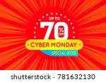 cyber monday sale sign banner... | Shutterstock . vector #781632130