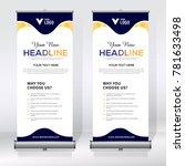 roll up banner design template  ... | Shutterstock .eps vector #781633498
