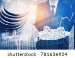 businessman holding money us... | Shutterstock . vector #781636924