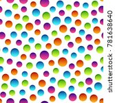 vector seamless color pattern... | Shutterstock .eps vector #781638640