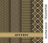 set of art deco seamless... | Shutterstock .eps vector #781640968