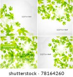 green summer leaves abstract... | Shutterstock .eps vector #78164260