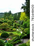 Small photo of Brentwood Bay, British Columbia/Canada July 4, 2016 Butchart Gardens near Victoria, British Columbia