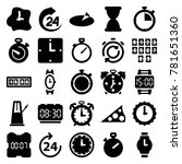 clock icons. set of 25 editable ... | Shutterstock .eps vector #781651360