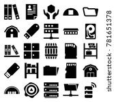 storage icons. set of 25...   Shutterstock .eps vector #781651378