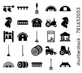 farming icons. set of 25... | Shutterstock .eps vector #781652053