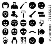 face icons. set of 25 editable...   Shutterstock .eps vector #781652113