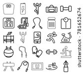 fitness icons set of 25