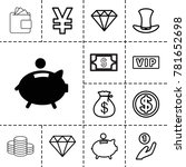 rich icons. set of 13 editable... | Shutterstock .eps vector #781652698