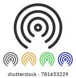 airdrop center icon. vector... | Shutterstock .eps vector #781653229