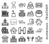 building icons. set of 25...   Shutterstock .eps vector #781653409