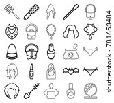 glamour icons. set of 25... | Shutterstock .eps vector #781653484