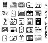 agenda icons. set of 25... | Shutterstock .eps vector #781653610