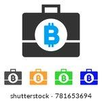 bitcoin business case icon....   Shutterstock .eps vector #781653694