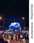 Small photo of Phuket, Thailand - December 23, 2017: Bangla road in Patong city at night time with so many people