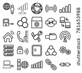connection icons. set of 25... | Shutterstock .eps vector #781653988